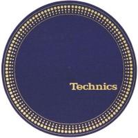 "Technics  - Slipmats / Tappetini ""Blue Logo white""  (Qtà 1 Tappetino)"