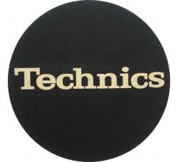 """1-TECHNICS  - Slipmats Tappetini Panno PER GIRADISCHI """"Logo Oro"""""""