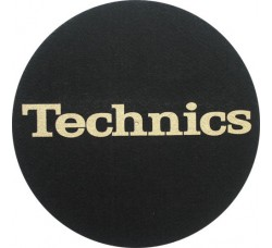 "Technics - Slipmats / Tappetini ""Logo - Gold "" - Qtà 1 Tappetino"