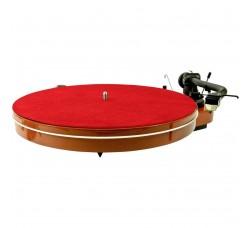 ANALOGIS - Slipmat / Tappetino per piatto del  Giradischi  in Pelle  colore Rosso
