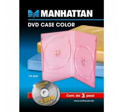 Confezione di 3 doppi DVD colorati