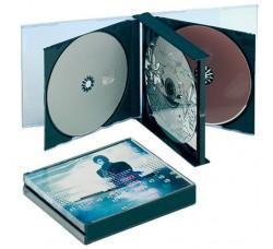 Box Jewel Case  per 4 CD a bandiera