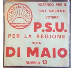 P.S.U.  Socialismo - Di Maio -  Solo Copertina