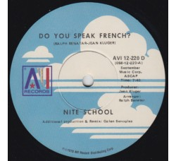 Nite School ‎– Do You Speak French? - LP/Vinile