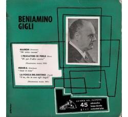 Beniamino Gigli – Manon / I Pescatori Di Perle / Fedora / La Forza Del Destino - 45 RPM