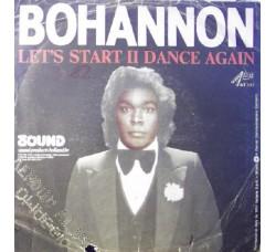 Bohannon – Let's Start II Dance Again - 45 RPM
