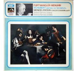 "Furtwängler Menuhin, Schubert, Mendelssohn, Orchestra Filarmonica Di Vienna, Orchestra Filarmonica Di Berlino – Sinfonia N.8 ""Incompiuta"" / Concerto In Mi Min. Op 64"