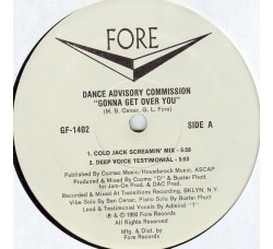 Dance Advisory Commission ‎– Gonna Get Over You