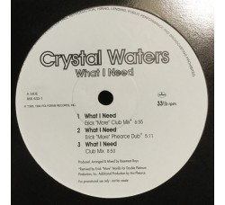 Crystal Waters ‎– What I Need - LP/Vinile