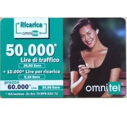 Megan Gale - ricarica Ommitel Traffico lire 50,00