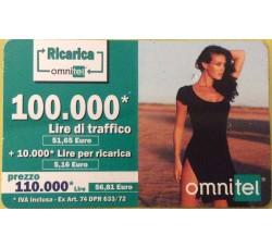 Megan Gale - ricarica Ommitel Traffico lire 100,00