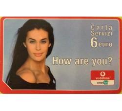 Megan Gale - Carta servizi Ommitel  euro 6