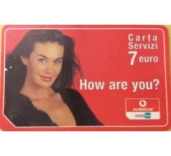 Megan Gale - Carta servizi Ommitel  euro 7