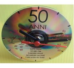Regalo 50 Anni!  Orologio da tavolo.