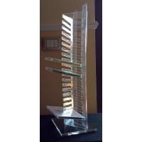 Torre Porta in  plexiglass per 20 Cd o DVD