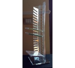Torre Porta in  plexiglass per 20 Cd o DVD