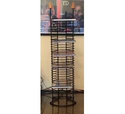 Torre porta Cd in Metallo colore Nero per 30 Cd