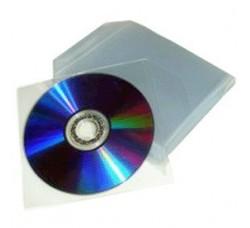 100 Pz - Buste Porta CD/DVD in PPL 80 Micron
