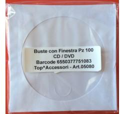 Bustine carta  bianche porta CD/DVD - Pz 100