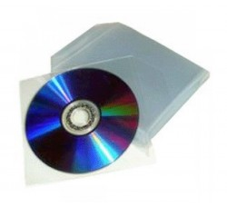 Bustine Porta CD/DVD in PPL 80 Micron - Pz 100