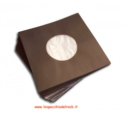 Buste di Carta NERE con Velina Antistatica per dischi 45 giri - 100-Pz