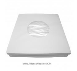 Buste di Carta BIANCHE con Velina Antistatica per dischi 45 giri - 100-Pz