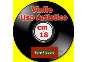 """Dischi Vinili per Uso artistico - Formato 7"""" - Foro piccolo -  Cm 18"""