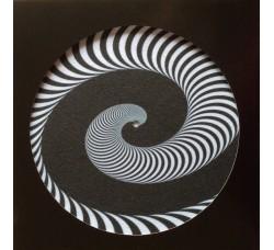 Slipmat Tappetino per Giradischi Spirale BICOLORE - TAP-1603