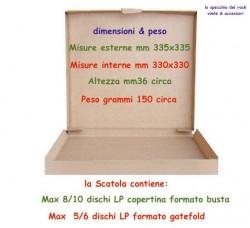 Scatole per la Spedizione dei Vinili LP da 3 fino 10 LP - 10 PZ