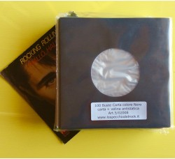 100 Pz - Buste  Carta + Velina dischi 45 giri. Colore nero