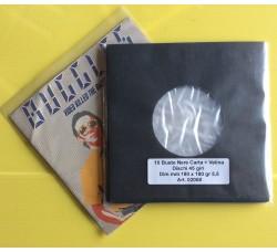 Buste  Carta + Velina dischi 45 giri. Colore nero