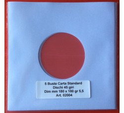 10 Manicotti Carta per dischi 45 giri - Colore Bianco