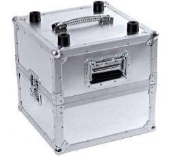 Box Aluminio porta LP circa 100 dischi in vinile -