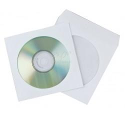 50 Pz-  Bustine carta  bianche porta CD/DVD