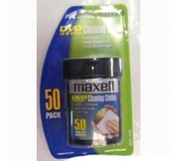 Maxell  - 50 Panni per pulizia Cd e DVD