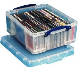 Contenitore di plastica per 44 DVD