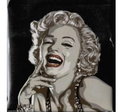 Marilyn  fondo Nero Magnete da collezione