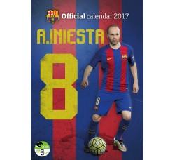 A. Iniesta - Barcelona Official Calendario  2017