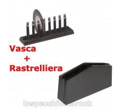 Knosti - Vasca + Rastrelliera per macchina lavadischi
